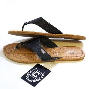 Chaps Women's Navy Sandals Size S 5 6 or M 7 8